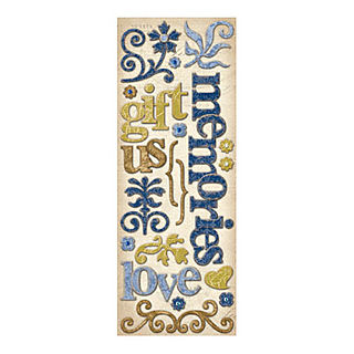 Chipboard words and swrils