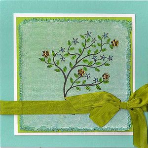 Stamping-on-tissue-paper