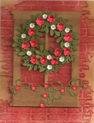 Brick-window-wreath