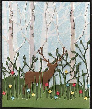Deer-Birch-Trees