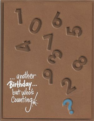 Numbers-Birthday-card