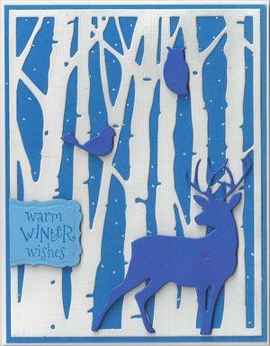 Blue-Birch-Trees-Deer