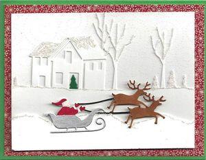 Winter-Cabin-Santa