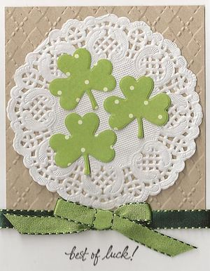 Doily-Shamrocks