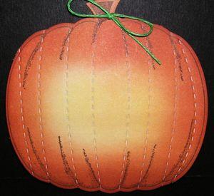 Pumpkin-stitched