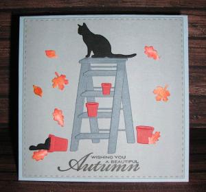Cat-on-Ladder