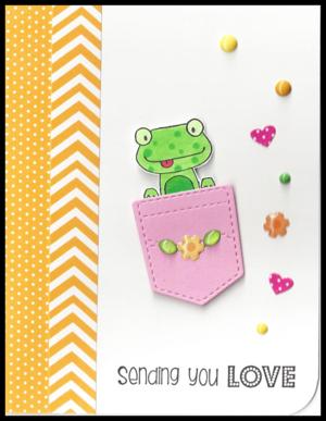 Frog-sending-love