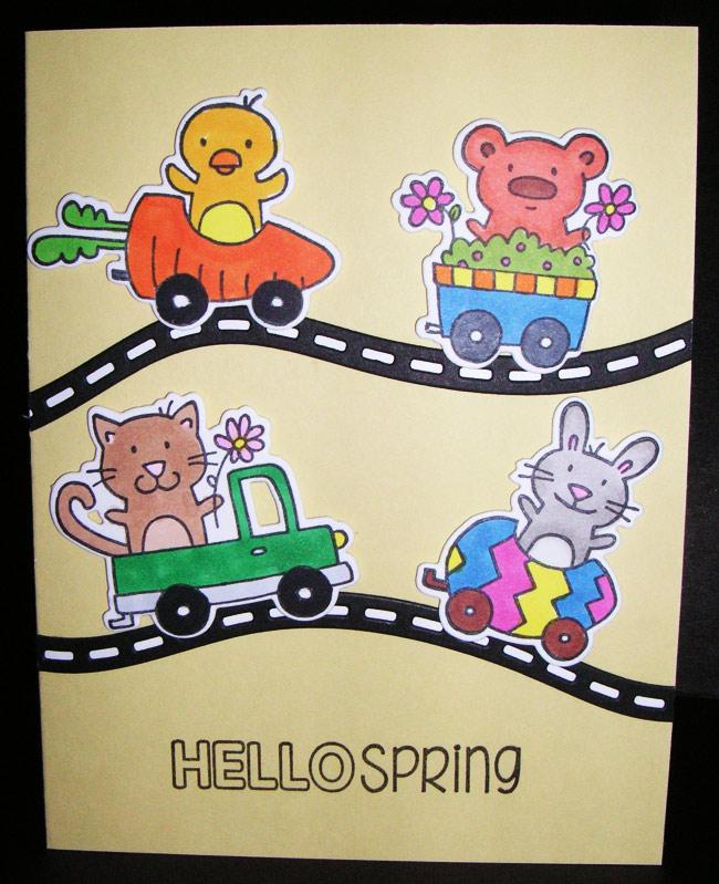 Hello-Spring-Yellow-Card