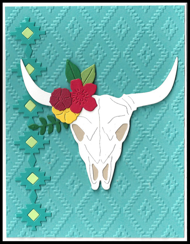 Cow-Skull-Turquoise-embosse