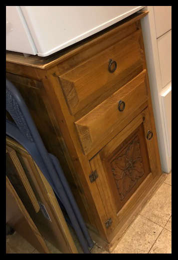 Brown-Cabinet-Refrigerator